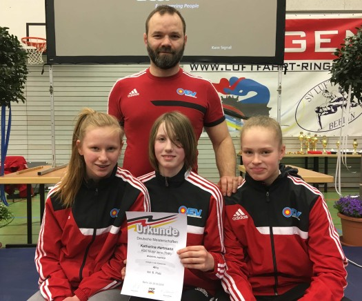 Katharina Hartmann erkämpft Platz 5 bei den Deutschen Meisterschaften der weibl. Jugend