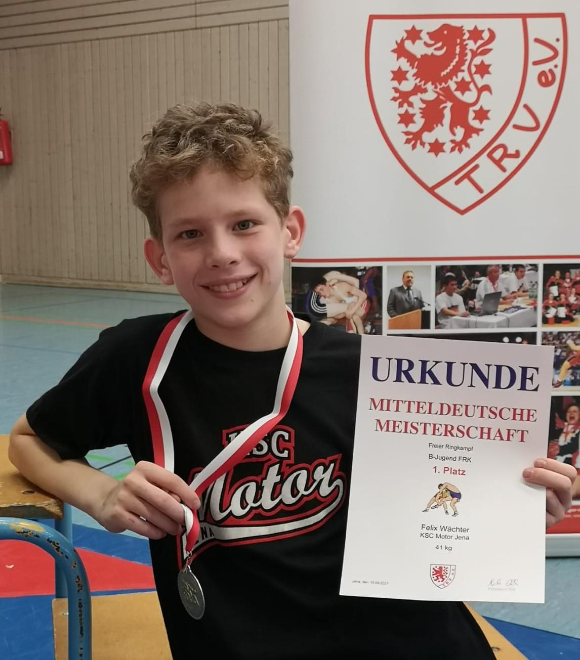 Gelungene Mitteldeutsche Meisterschaften der B-Jugend und eine Goldmedaille blieb in Jena